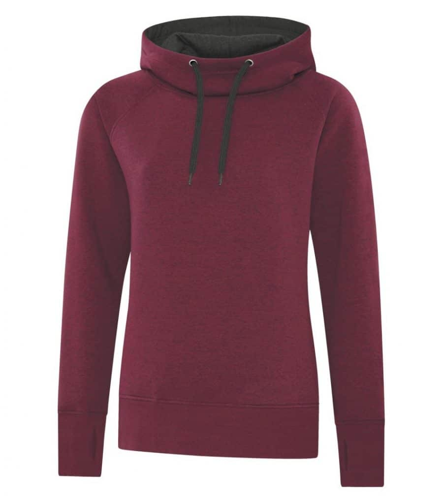 WTSML2045W - Cardinal Heather - WorkwearToronto.com - Ladies' Vintage Hoodies & Sweatshirts