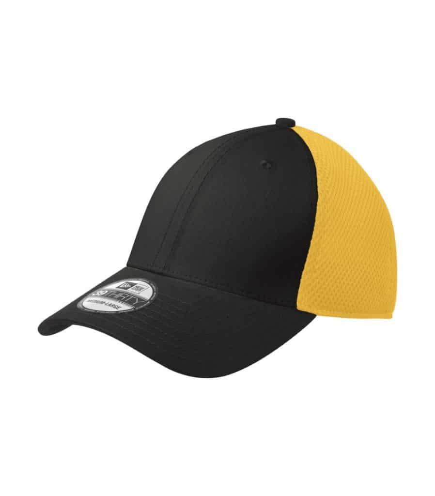 WTSMNE1020 - Black - Gold - WorkwearToronto.com - Headwear, Toques & Beanies - Custom Embroidery