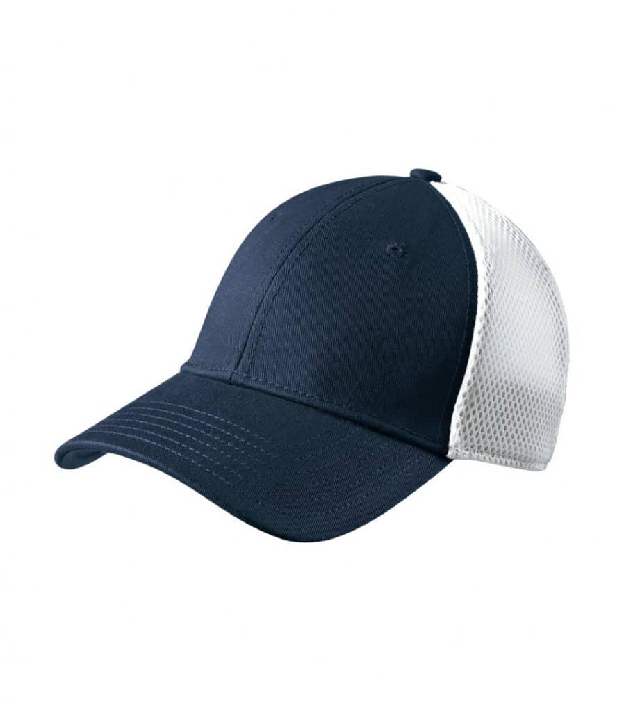 WTSMNE1020 - Deep Navy - White - WorkwearToronto.com - Headwear, Toques & Beanies - Custom Embroidery