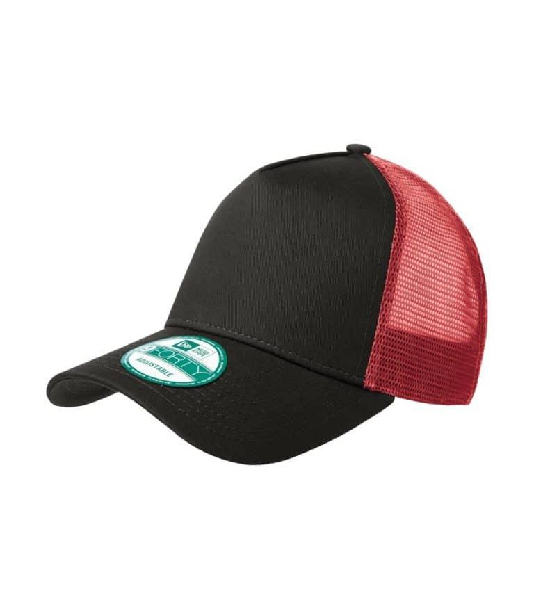 WTSMNE205 - Black - Scarlet - WorkwearToronto.com - Headwear Caps - Hats - Custom Embroidery - Heat Press - Cost