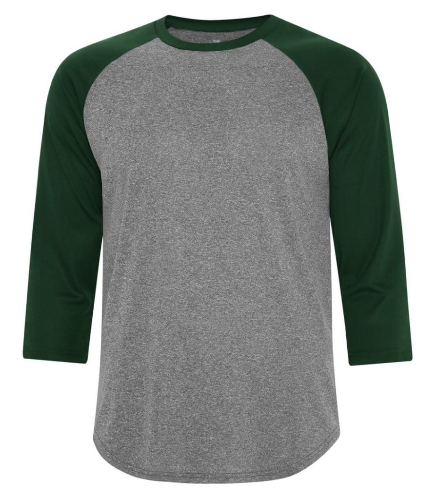 WTSMS3526 - Charcoal Heather & Forest Green - WorkwearToronto.com - T-Shirts