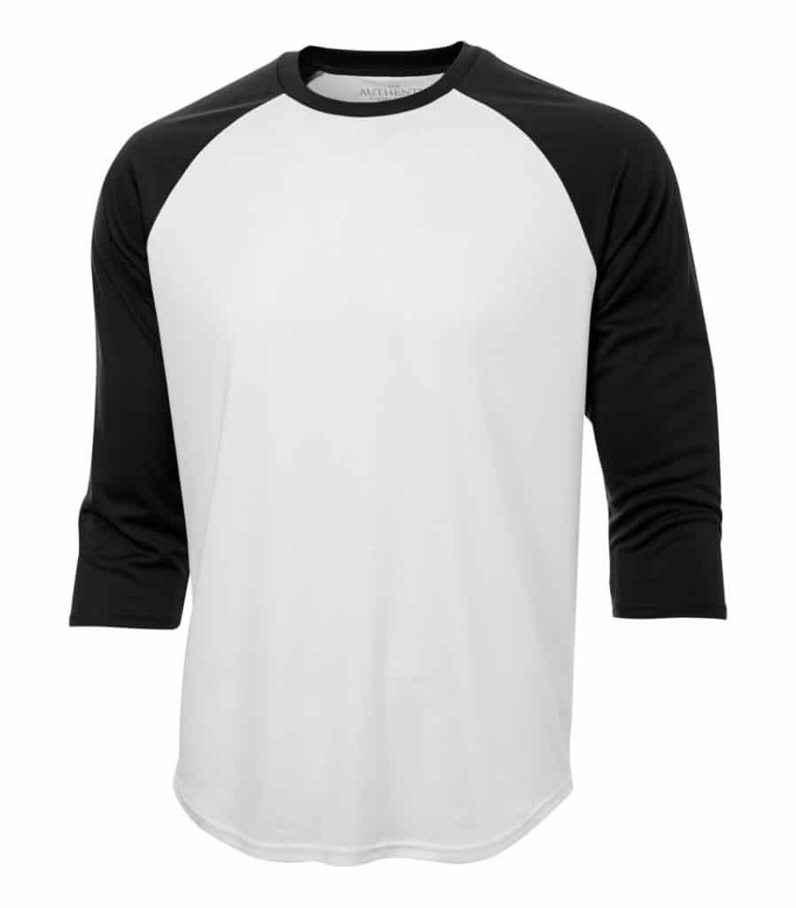 WTSMS3526 - White & Black - WorkwearToronto.com - Custom T Shirts Cost