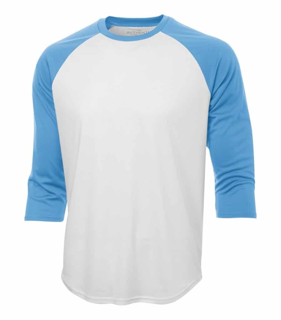WTSMS3526 - White & Carolina Blue - WorkwearToronto.com - T-Shirts - Custom T Shirts Cost
