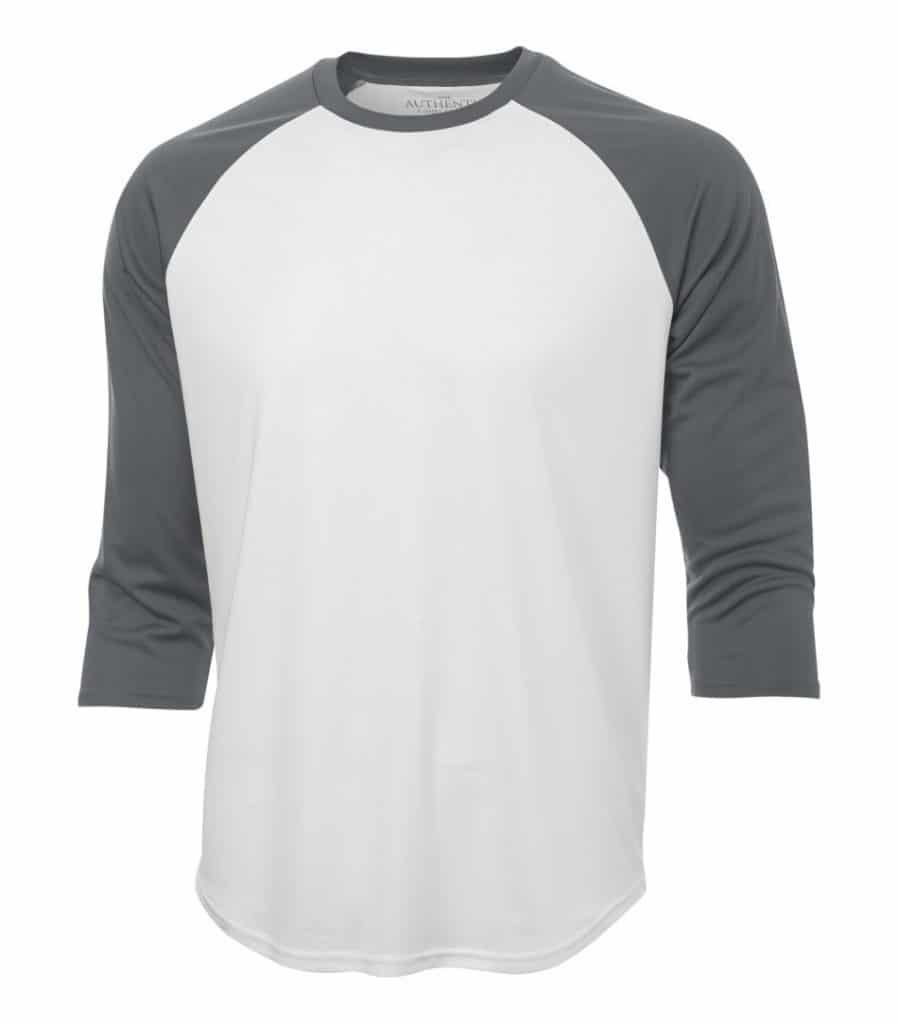 WTSMS3526 - White & Coal Grey - WorkwearToronto.com - T-Shirts - Custom T Shirts Pricing in Toronto