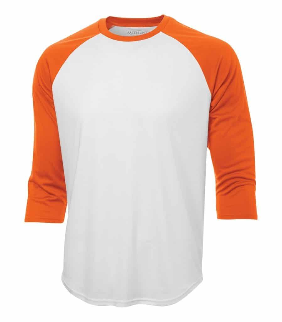 WTSMS3526 - White & Deep Orange - WorkwearToronto.com - T-Shirts - Custom T Shirts Pricing in GTA