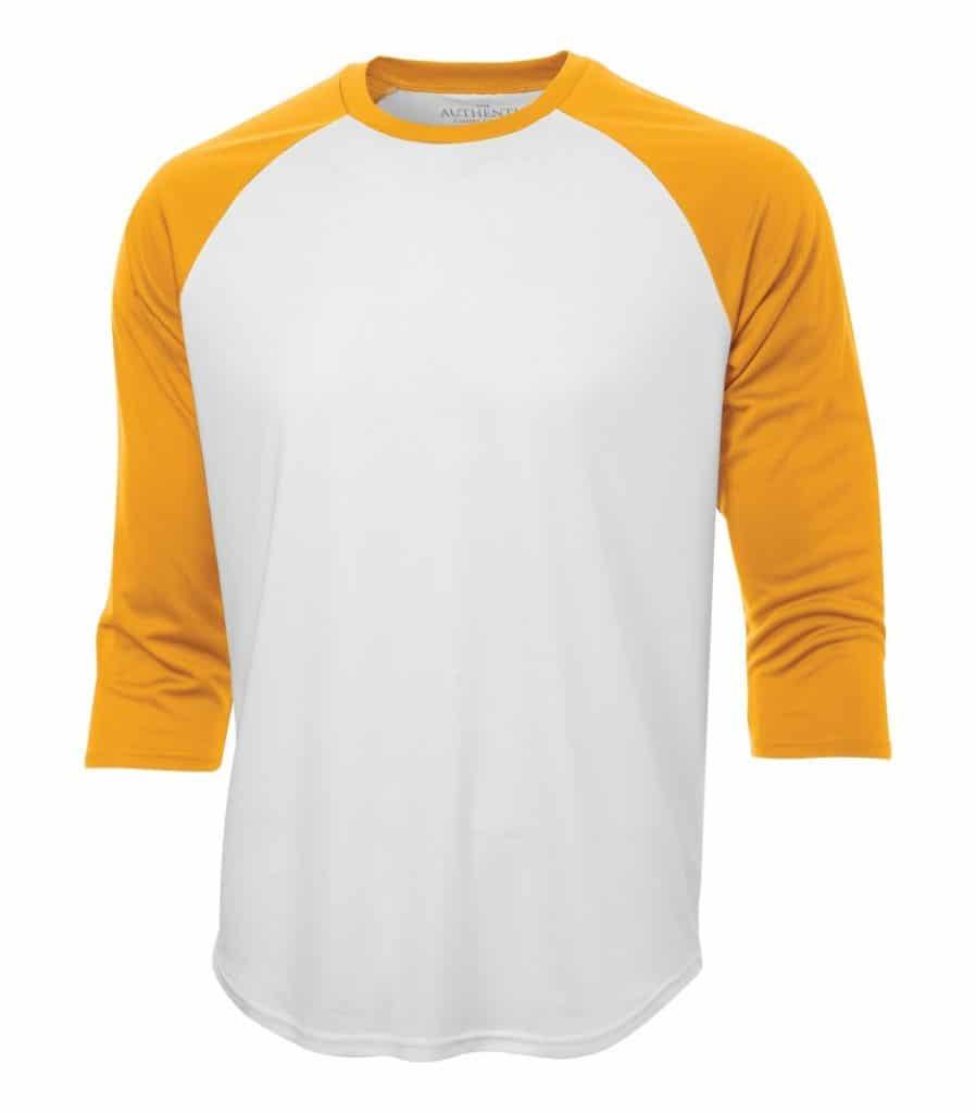 WTSMS3526 - White & Gold - WorkwearToronto.com - T-Shirts - Custom T Shirts Pricing
