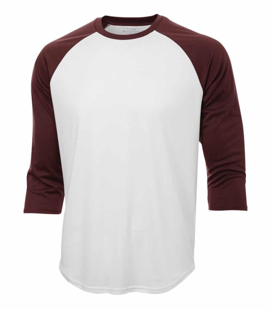 WTSMS3526 - White & Maroon - WorkwearToronto.com - Baseball Jersey T-Shirts - Embroidery