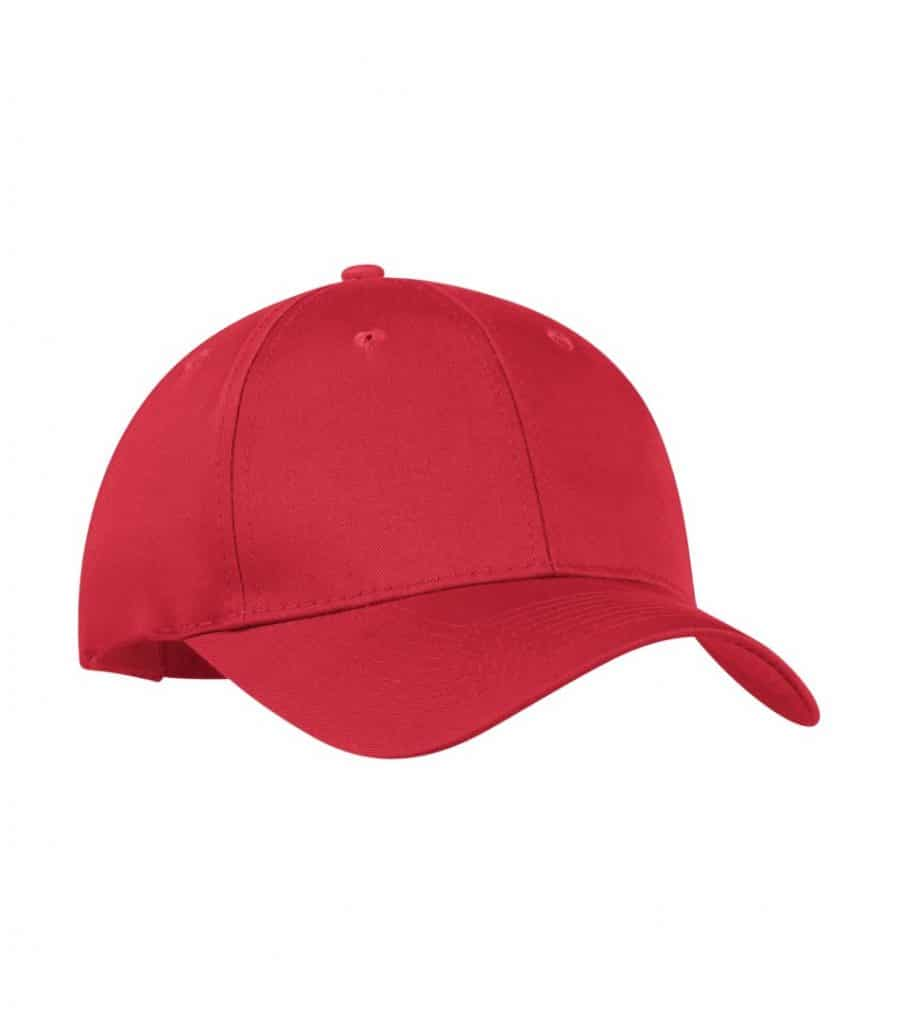 WTSMY130 - Red - WorkwearToronto.com - Baseball Hats with Custom Embroidery
