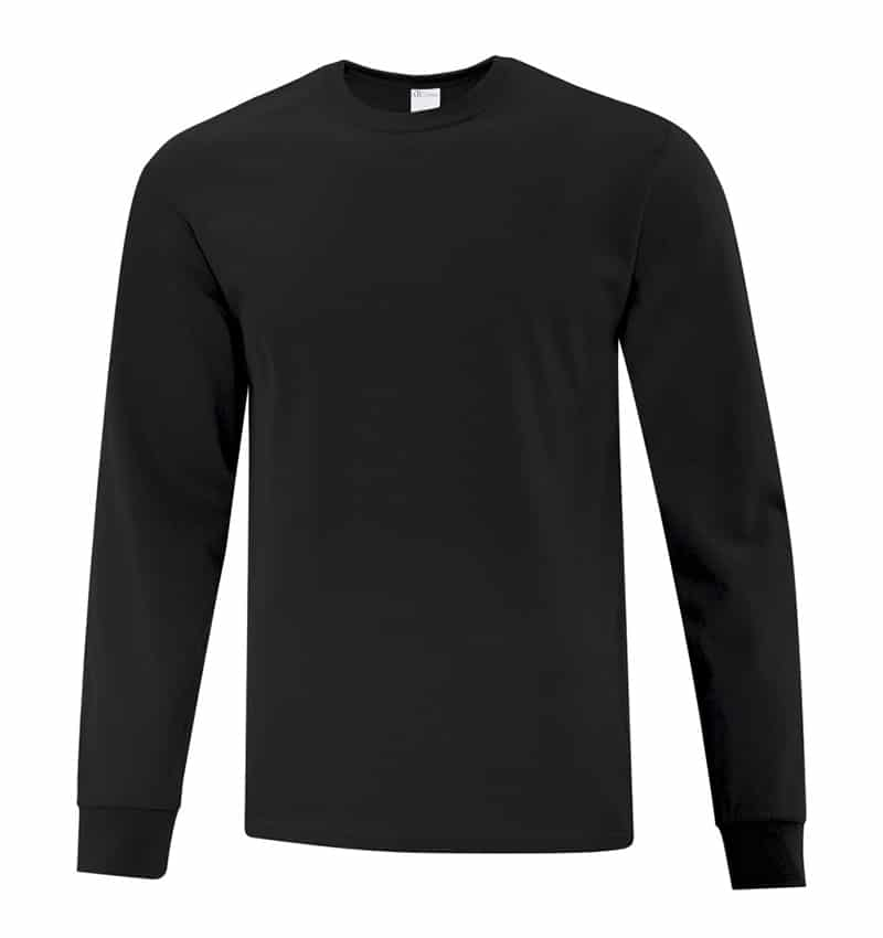 Everyday Cotton Long Sleeve T-Shirt - Workwear Toronto - 100% Cotton - Black