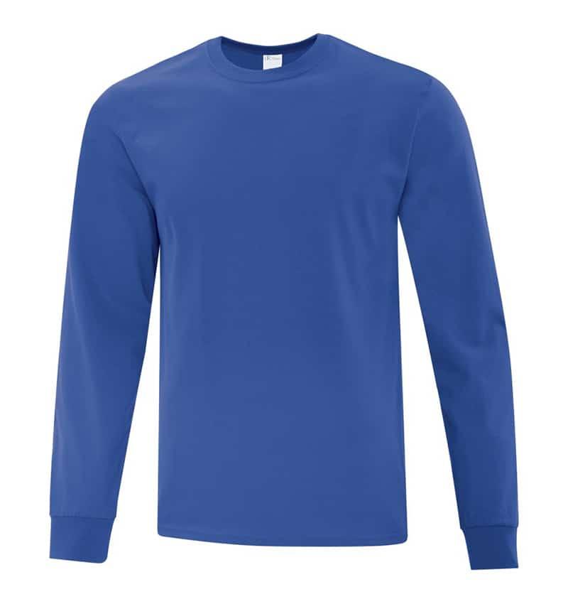 Everyday Cotton Long Sleeve T-Shirt - Workwear Toronto - 100% Cotton - Royal