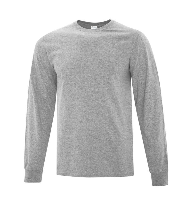 Everyday Cotton Long Sleeve T-Shirt - Workwear Toronto - 100% Cotton - Athletic Heather