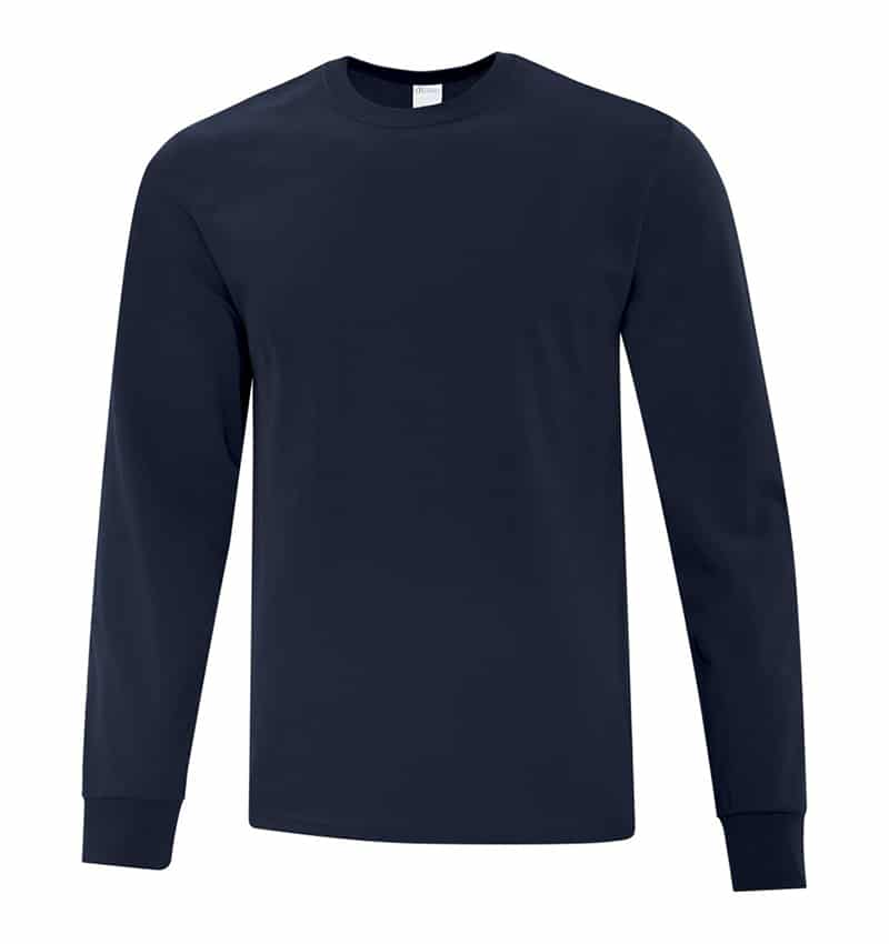 Everyday Cotton Long Sleeve T-Shirt - Workwear Toronto - 100% Cotton - Dark Navy