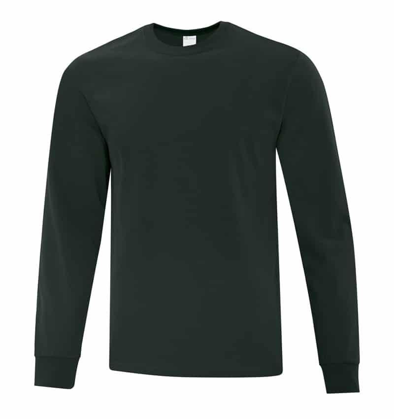 Everyday Cotton Long Sleeve T-Shirt - Workwear Toronto - 100% Cotton - Dark Green