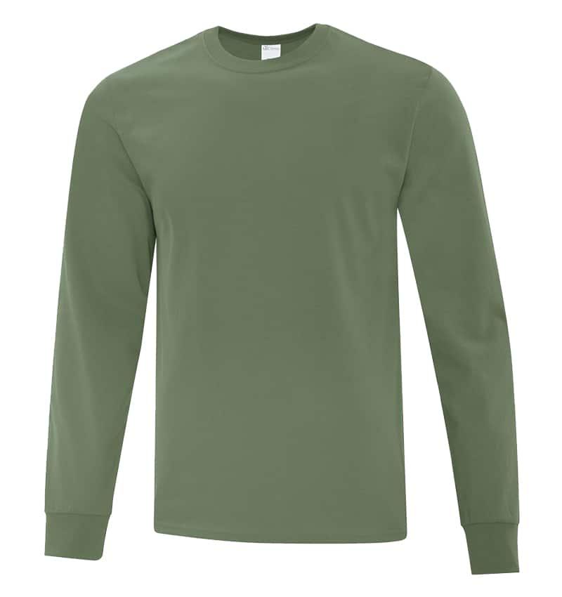 Everyday Cotton Long Sleeve T-Shirt - Workwear Toronto - 100% Cotton - Fatigue Green