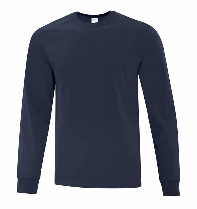Everyday Cotton Long Sleeve T-Shirt - Workwear Toronto - 100% Cotton - Navy