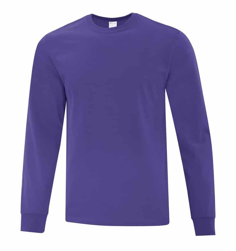 Everyday Cotton Long Sleeve T-Shirt - Workwear Toronto - 100% Cotton - purple