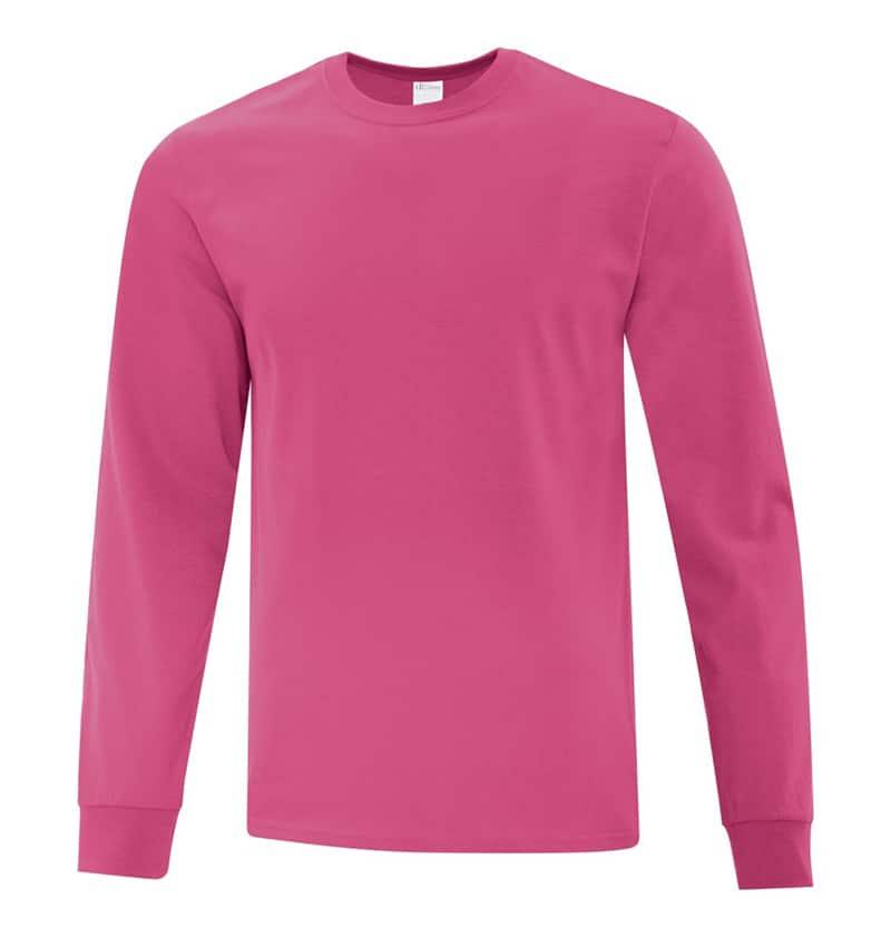 Everyday Cotton Long Sleeve T-Shirt - Workwear Toronto - 100% Cotton - Sangria