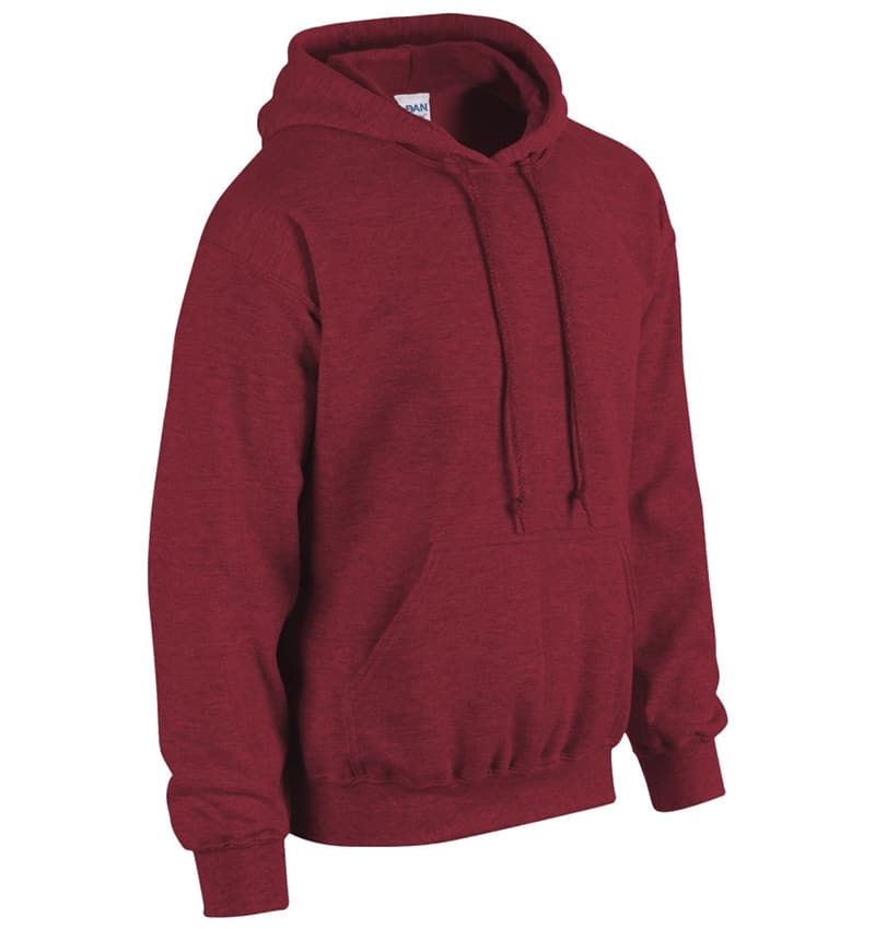 Custom Sweatshirt Hoodie with Your Logo - WTSN1850 Antique Cherry Red - Promotional Products - Heat Transfer - Screen Printing - Embroidery