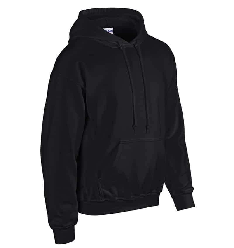 Custom Sweatshirt Hoodie with Your Logo - WTSN1850 Black - Promotional Products - Heat Transfer - Screen Printing - Embroidery