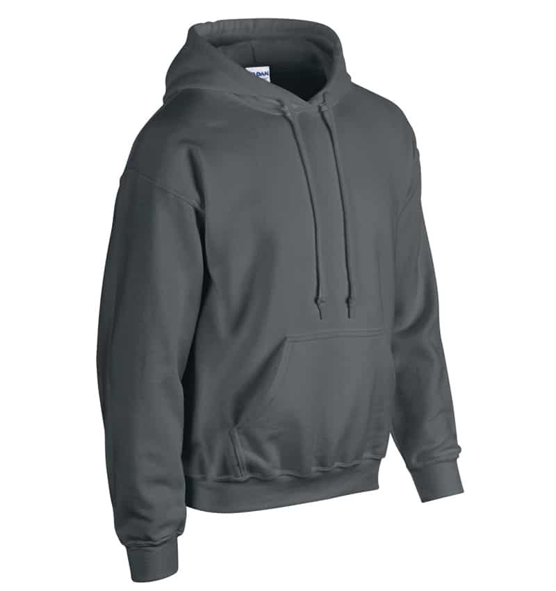 Custom Sweatshirt Hoodie with Your Logo - WTSN1850 Charcoal - Promotional Products - Heat Transfer - Screen Printing - Embroidery