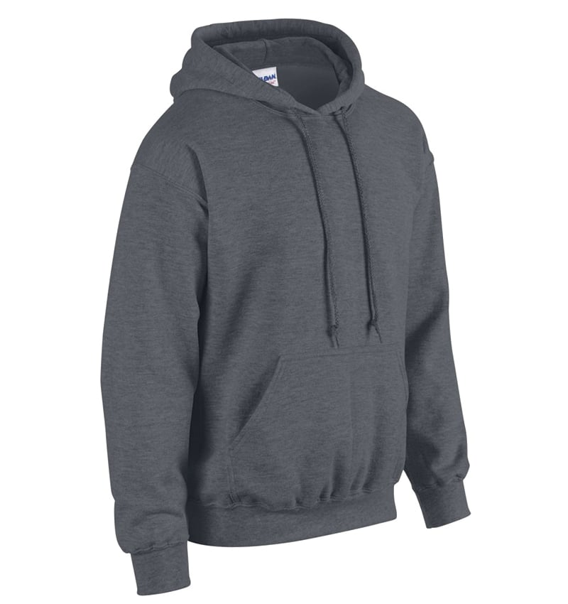 Custom Sweatshirt Hoodie with Your Logo - WTSN1850 Dark Heather - Promotional Products - Heat Transfer - Screen Printing - Embroidery