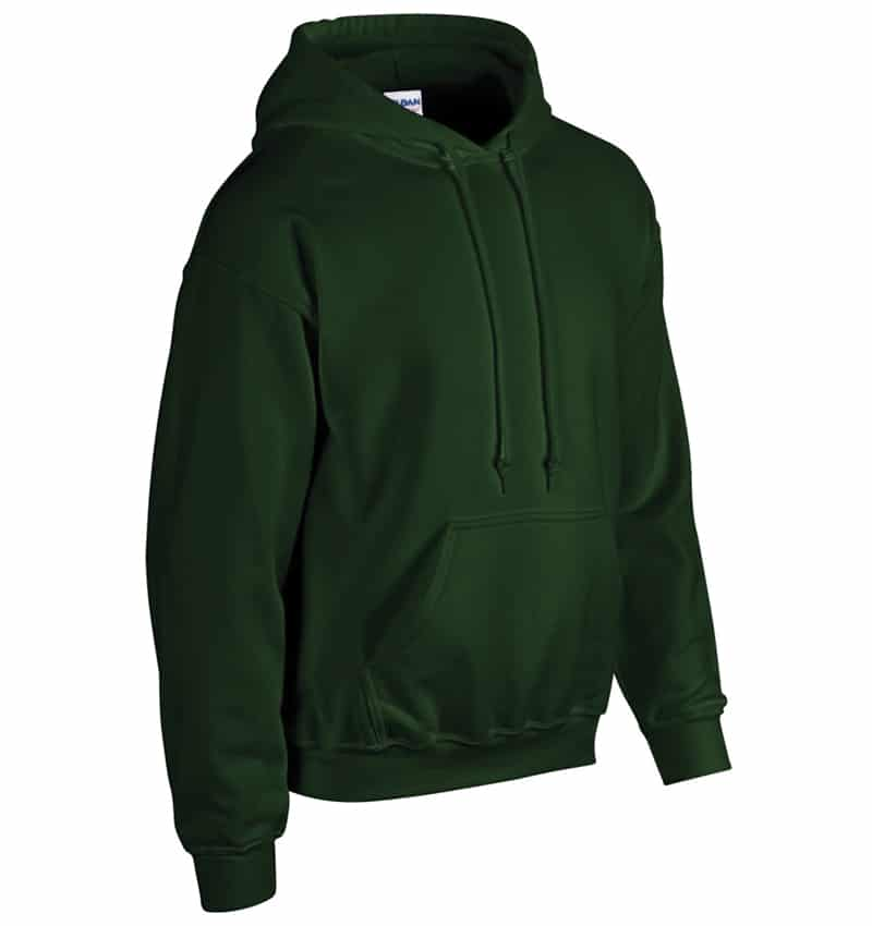 Custom Sweatshirt Hoodie with Your Logo - WTSN1850 Forest Green - Promotional Products - Heat Transfer - Screen Printing - Embroidery
