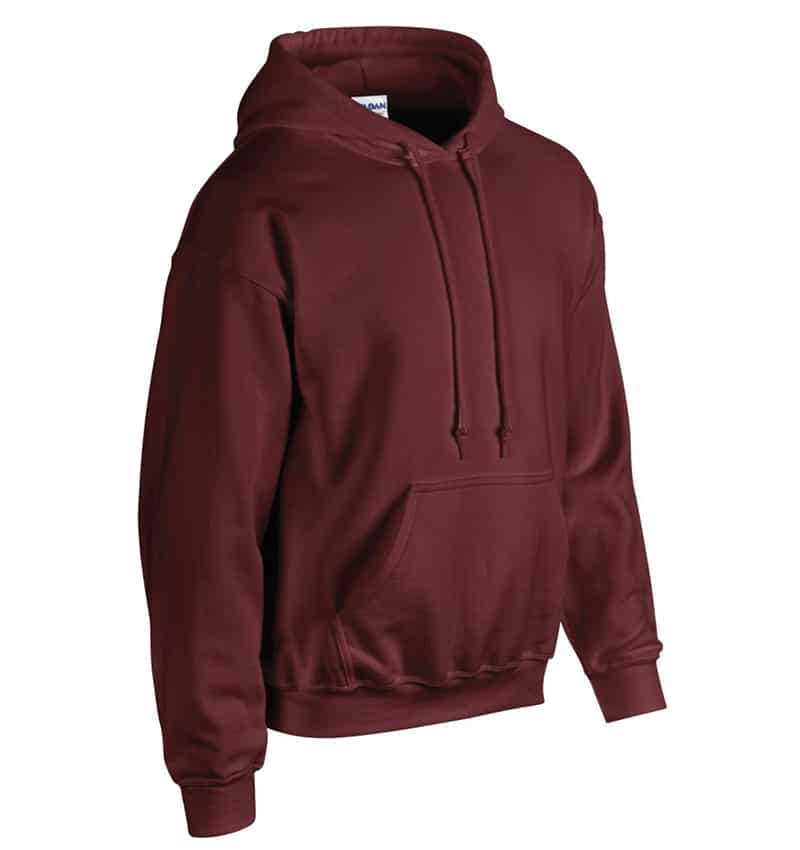 Custom Sweatshirt Hoodie with Your Logo - WTSN1850 Maroon - Promotional Products - Heat Transfer - Screen Printing - Embroidery