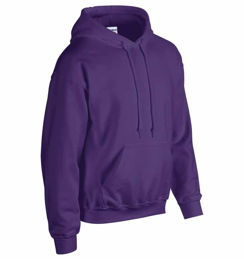 Custom Sweatshirt Hoodie with Your Logo - WTSN1850 Purple - Promotional Products - Heat Transfer - Screen Printing - Embroidery