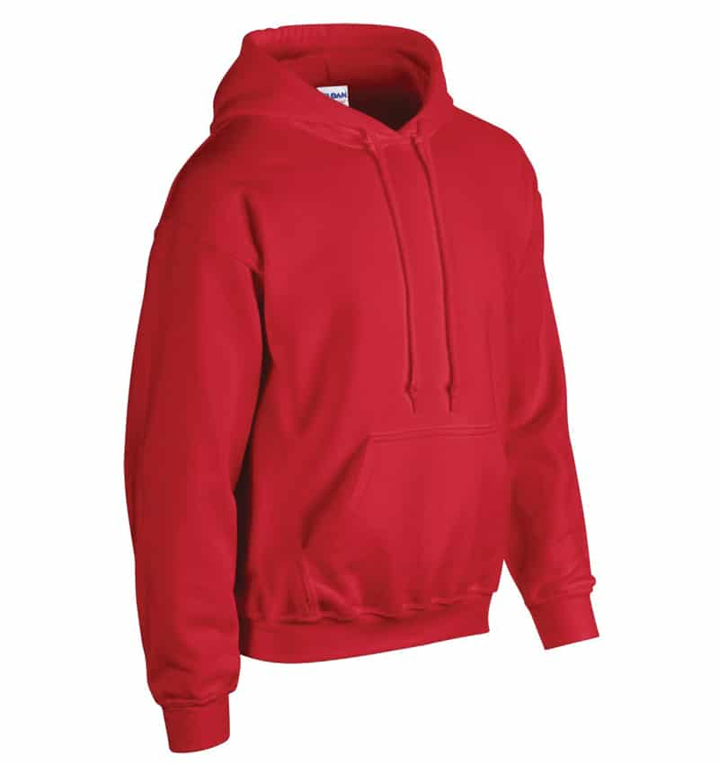 Custom Sweatshirt Hoodie with Your Logo - WTSN1850 Red - Promotional Products - Heat Transfer - Screen Printing - Embroidery