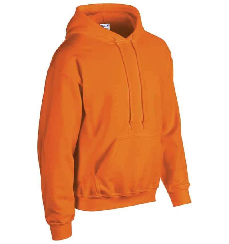Custom Sweatshirt Hoodie with Your Logo - WTSN1850 Safety Orange - Promotional Products - Heat Transfer - Screen Printing - Embroidery