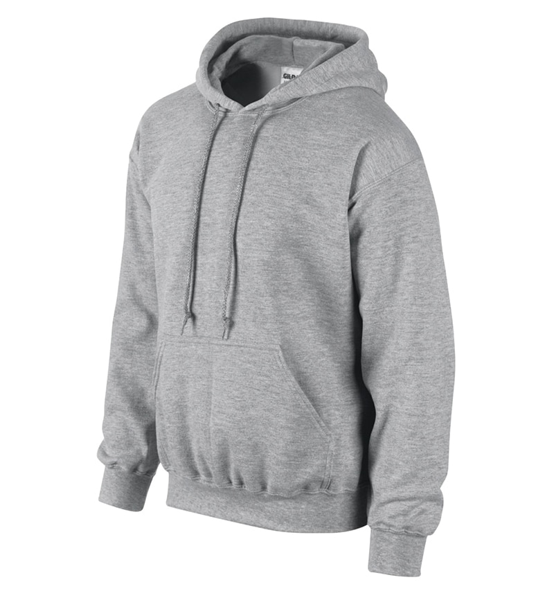 Custom Sweatshirt Hoodie with Your Logo - WTSN1850 Sport Grey - Promotional Products - Heat Transfer - Screen Printing - Embroidery