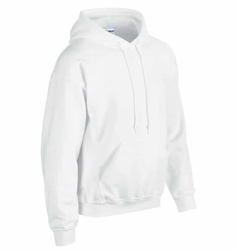 Custom Sweatshirt Hoodie with Your Logo - WTSN1850 White - Promotional Products - Heat Transfer - Screen Printing - Embroidery