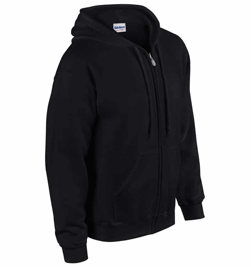 Custom Sweatshirt hoodies with your logo - Promotional Products - Workwear Toronto - Heat Transfer - Screen Printing - Embroidery - WTSN1860 Black