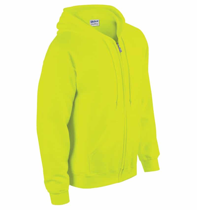 Custom Sweatshirt hoodies with your logo - Promotional Products - Workwear Toronto - Heat Transfer - Screen Printing - Embroidery - WTSN1860 Safety Green