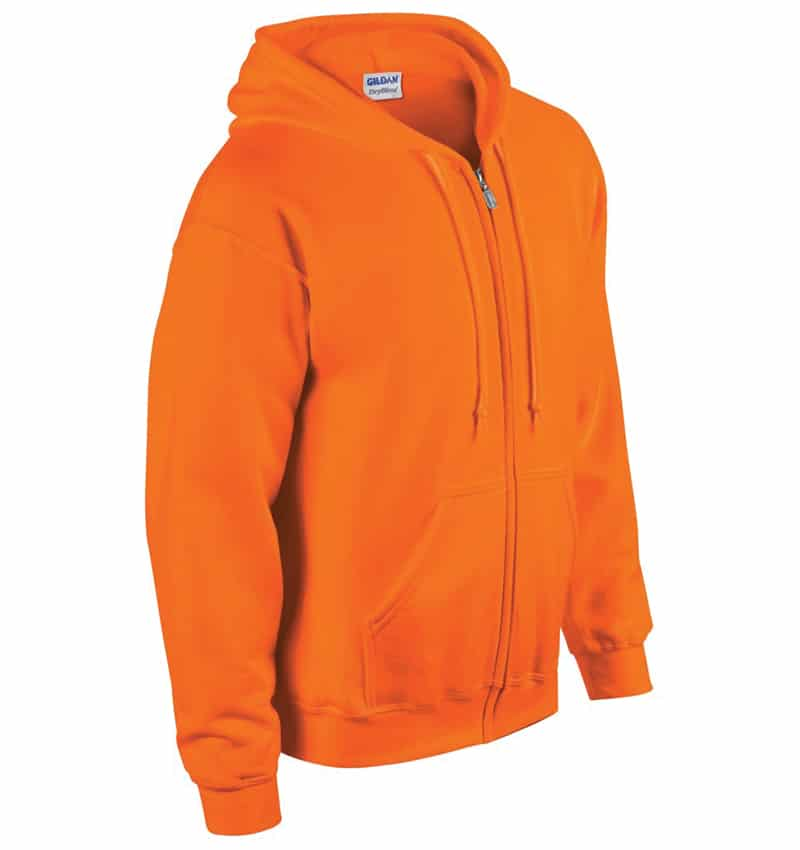 Custom Sweatshirt hoodies with your logo - Promotional Products - Workwear Toronto - Heat Transfer - Screen Printing - Embroidery - WTSN1860 Safety Orange