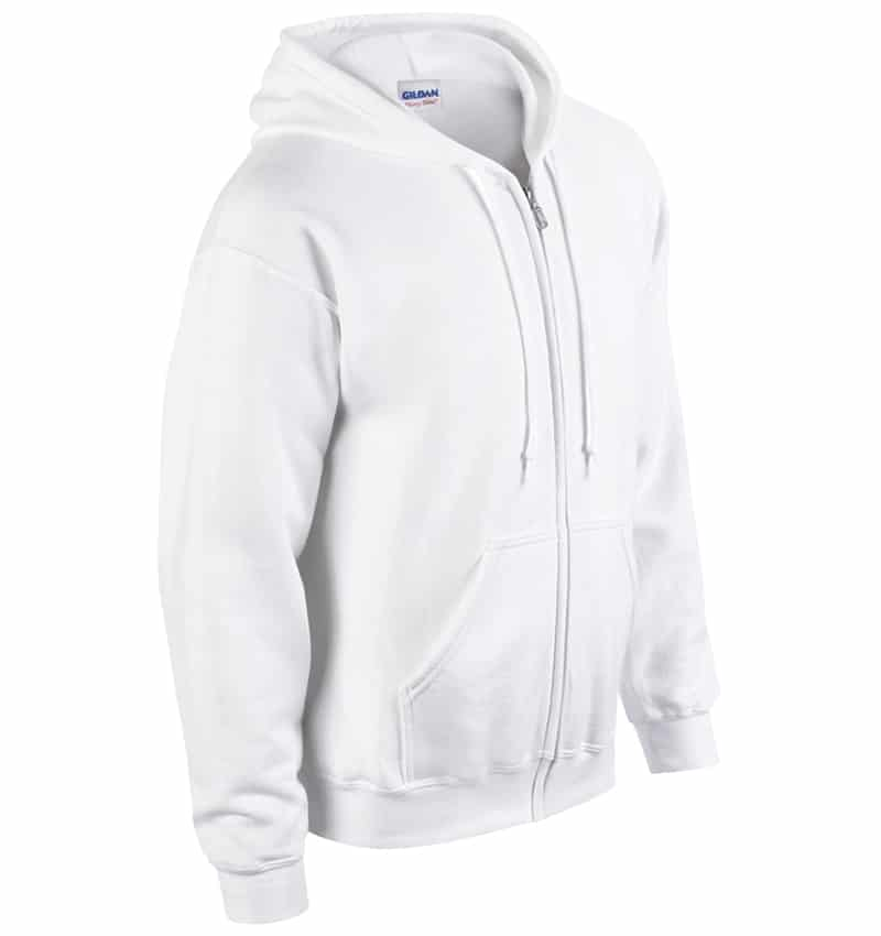 Custom Sweatshirt hoodies with your logo - Promotional Products - Workwear Toronto - Heat Transfer - Screen Printing - Embroidery - WTSN1860 White