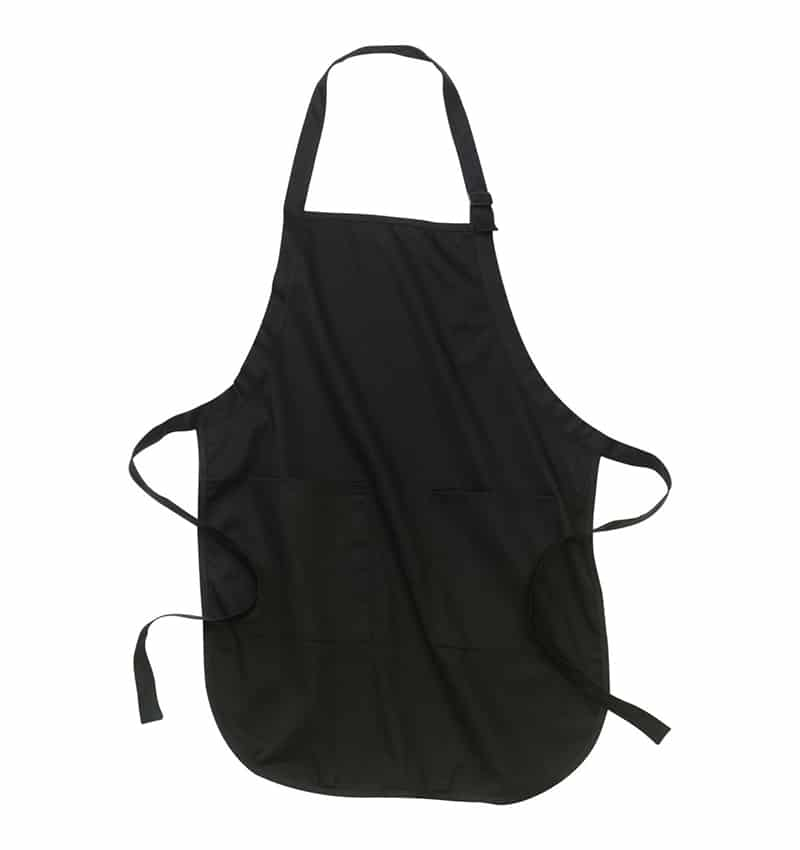 Custom Aprons With Your Logo - WTSNA100 Black - Promotional Products - Workwear Toronto - Heat Transfer - Screen Printing - Embroidery - Kitchen