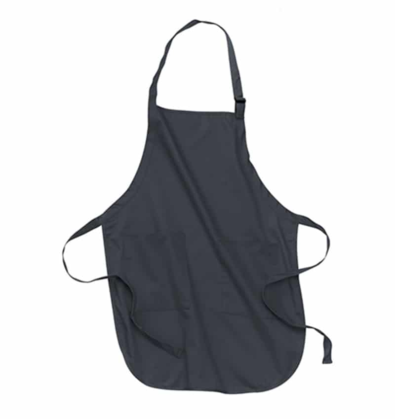 Custom Aprons With Your Logo - WTSNA100 Coal Grey - Promotional Products - Workwear Toronto - Heat Transfer - Screen Printing - Embroidery - Kitchen
