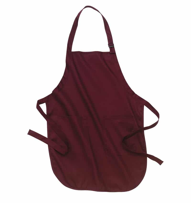 Custom Aprons With Your Logo - WTSNA100 Maroon - Promotional Products - Workwear Toronto - Heat Transfer - Screen Printing - Embroidery - Kitchen