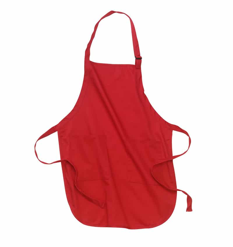 Custom Aprons With Your Logo - WTSNA100 Red - Promotional Products - Workwear Toronto - Heat Transfer - Screen Printing - Embroidery - Kitchen