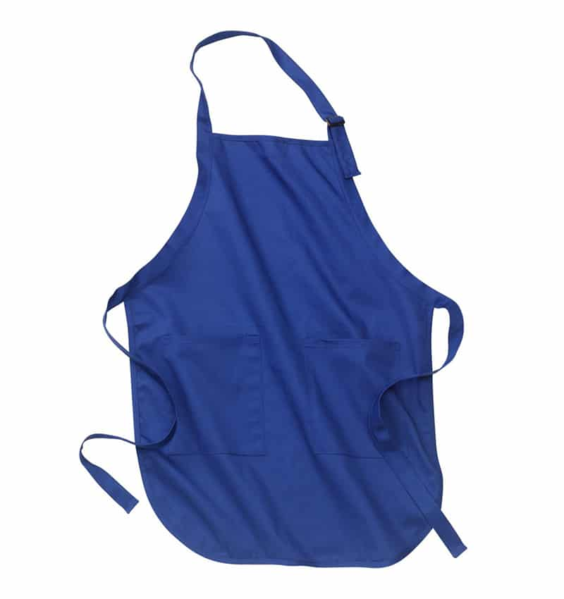 Custom Aprons With Your Logo - WTSNA100 Royal - Promotional Products - Workwear Toronto - Heat Transfer - Screen Printing - Embroidery - Kitchen