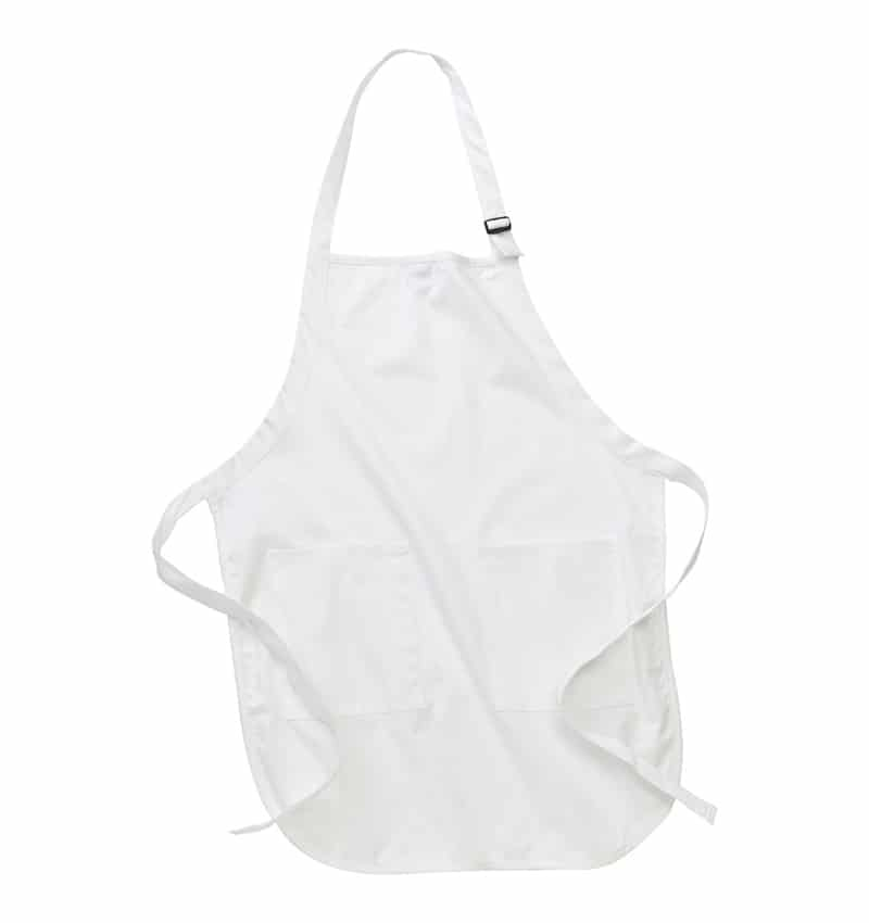 Custom Aprons With Your Logo - WTSNA100 White - Promotional Products - Workwear Toronto - Heat Transfer - Screen Printing - Embroidery - Kitchen