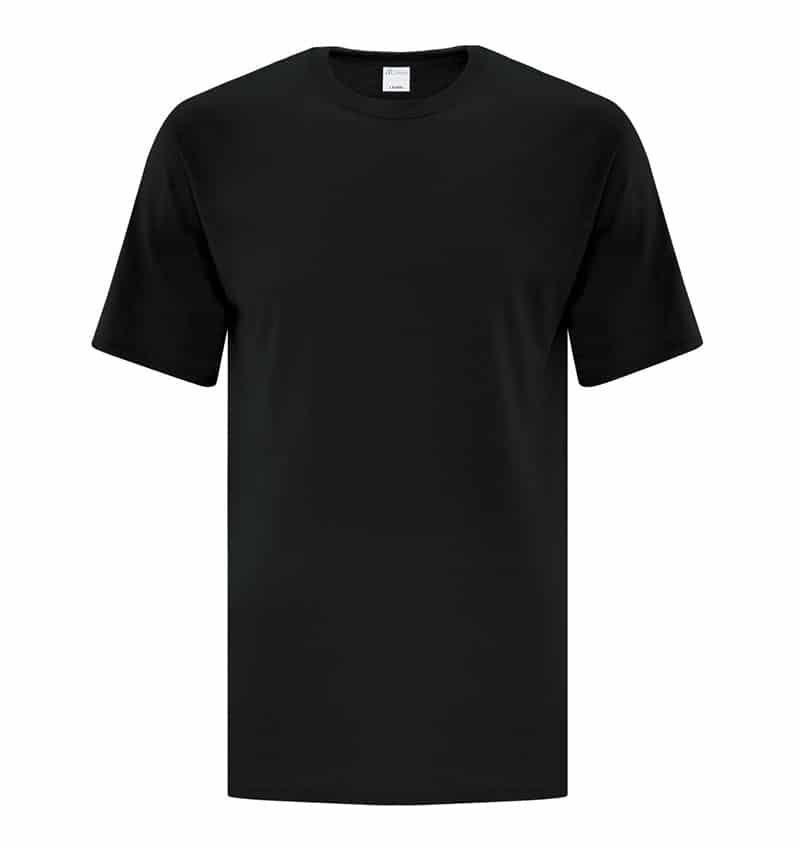 Custom Everyday T-Shirt With Your Logo - Cotton - Promotional Products - Workwear Toronto - WTSNATC1000T Black