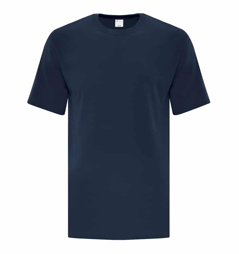 Custom Everyday T-Shirt With Your Logo - Cotton - Promotional Products - Workwear Toronto - WTSNATC1000T Navy