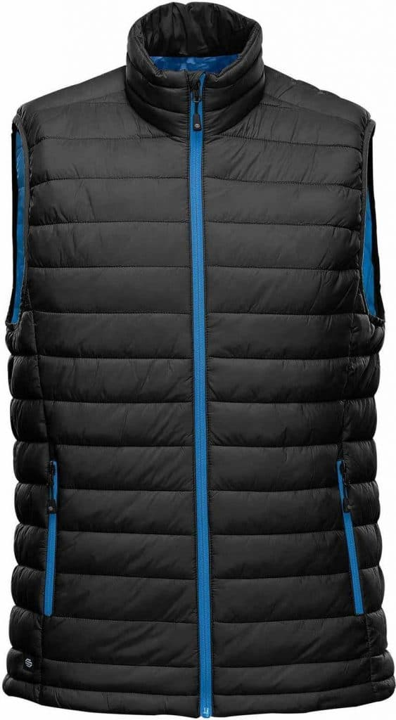 WTSTAFV-1 - Black & AzureBlue - WorkwearToronto.com - Men's Stavanger Thermal Vest