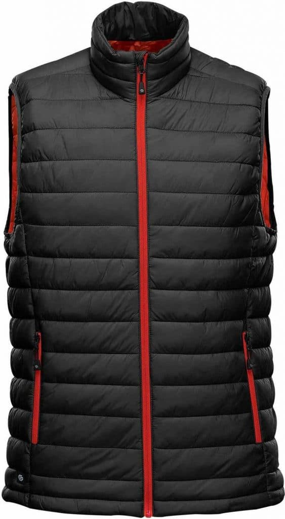WTSTAFV-1 - Black & Bright Red- WorkwearToronto.com - Men's Stavanger Thermal Vest