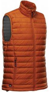 WTSTAFV-1 - Burnt Orange & Graphite - WorkwearToronto.com - Men's Stavanger Thermal Vest