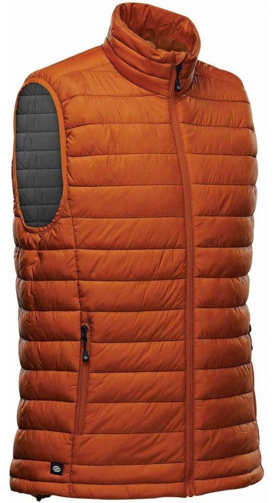 WTSTAFV-1 - Burnt Orange & Graphite - WorkwearToronto.com - Men's Stavanger Thermal Vest