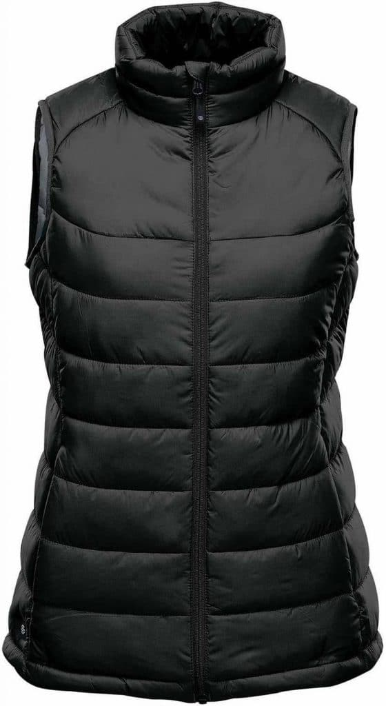 WTSTAFV-1W - Black & Graphite - WorkwearToronto.com - Women's Stavanger Thermal Vest - Custom Clothing Embroidery and Heat Press