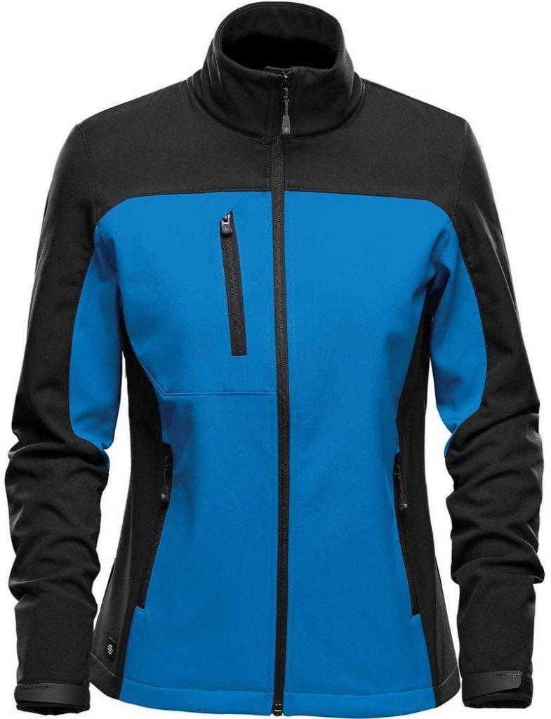 WTSTBHS-3W BLUE & BLACK Front - WorkwearToronto.com - Softshell Jackets with custom logo